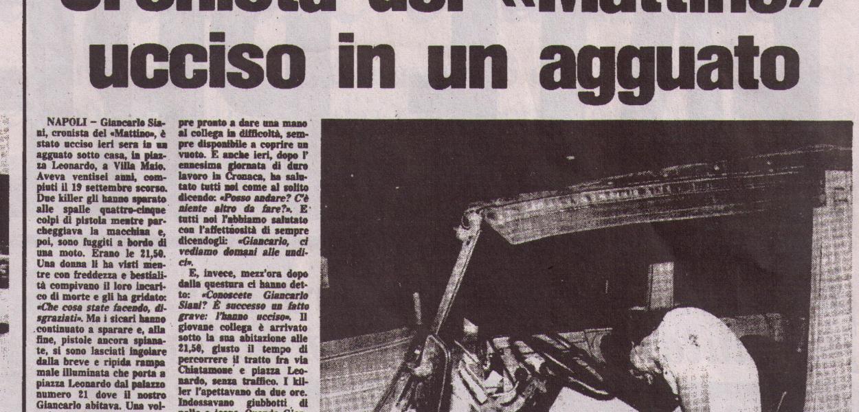 Giancarlo SIANI - Il Mattino