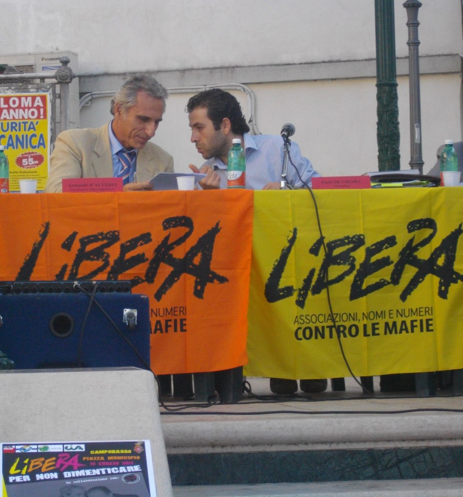Armando D'ALTERIO (Proc. DDA Campobasso), Paolo DE CHIARA, Nicola BALDIERI (giornalista)