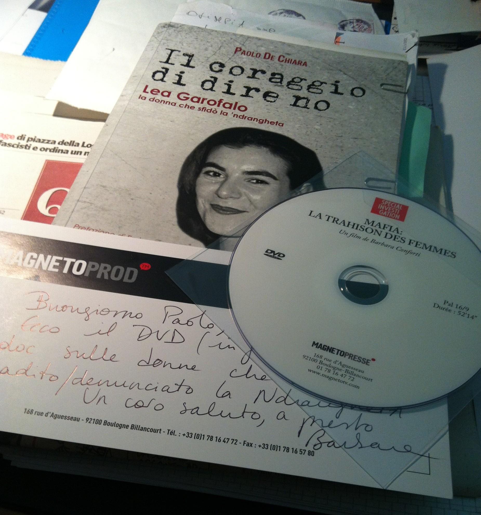 DVD copertina documentario CANAL + di Barbara Conforti