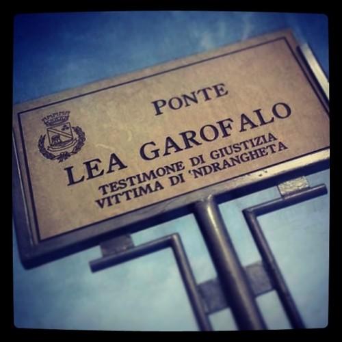 targa ponte dedicato a LEA
