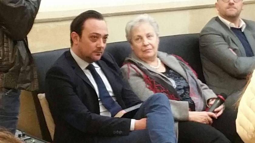 Paride Margheriti con Rita Borsellino