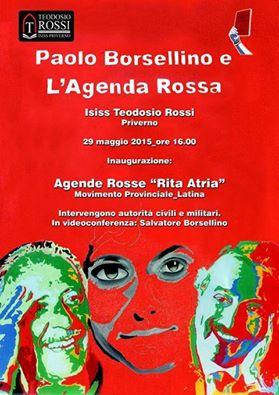 Paolo BORSELLINO e Agenda Rossa, Priverno, 29 maggio 2015