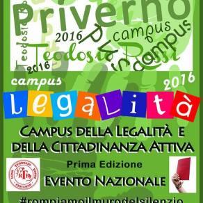 campus legalità, priverno, 3 e 4 giugno 2016